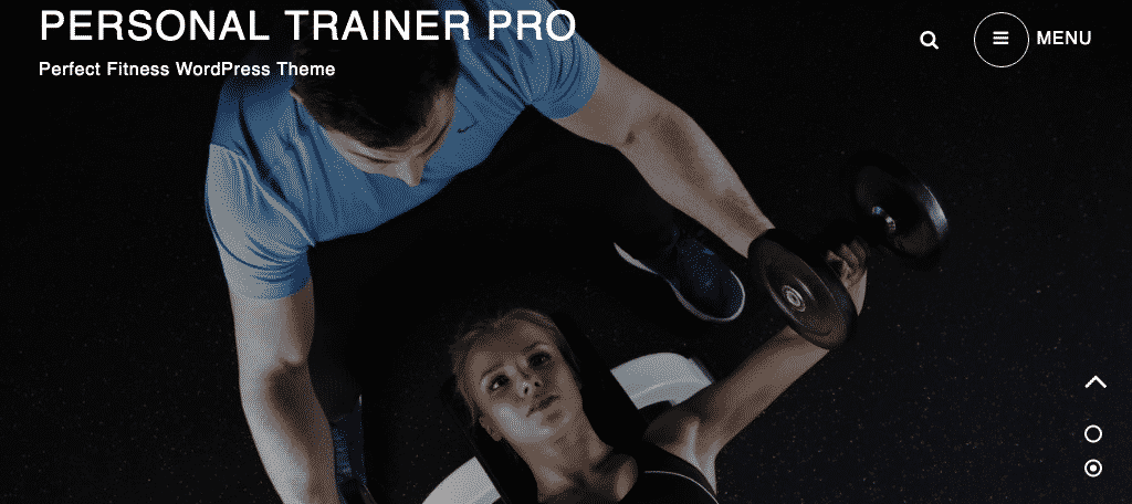 Personal trainer free wordpress fitness theme