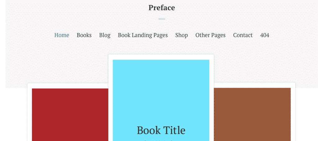 Preface wordpress theme for authors