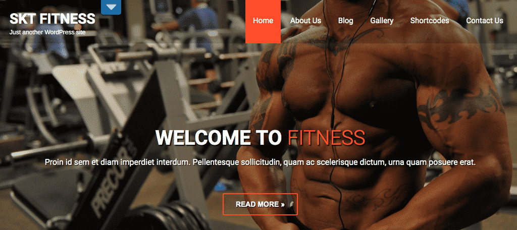 Free wordpress fitness theme skt fitness lite