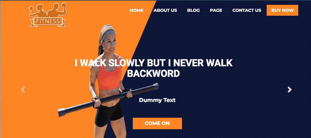 WP fitness theme