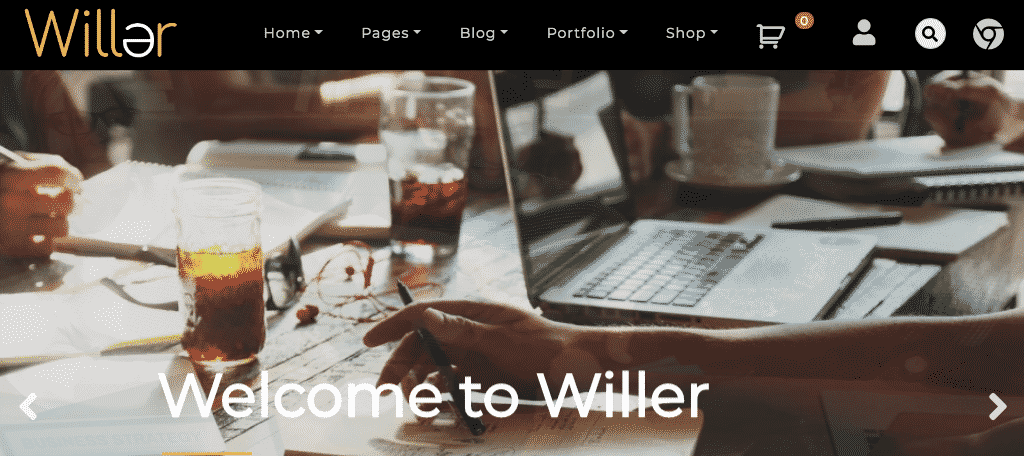 Willer free wordpress theme
