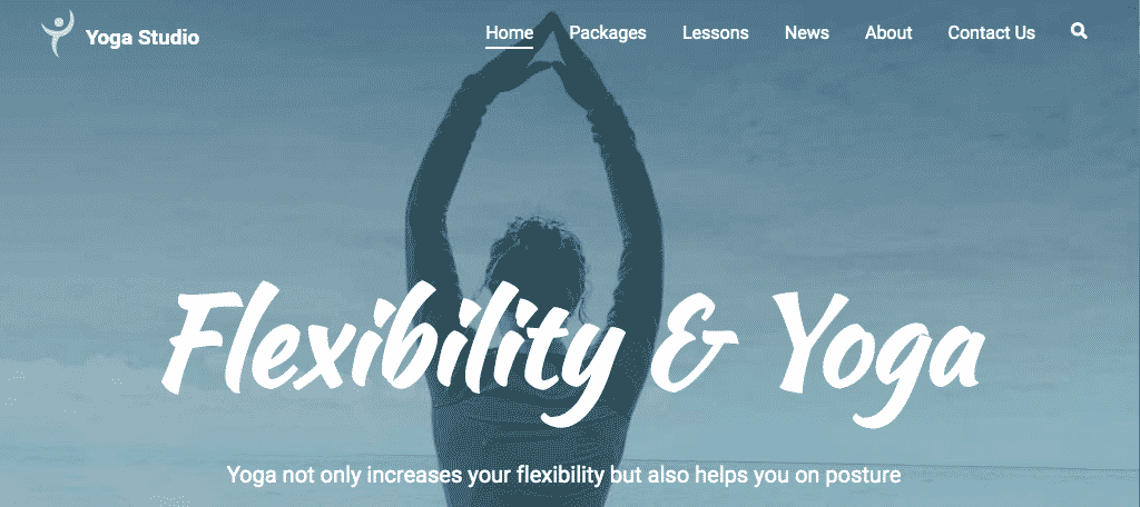 Zakra Yoga WordPress theme