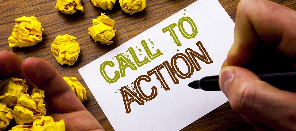your call to action belongs above the fold