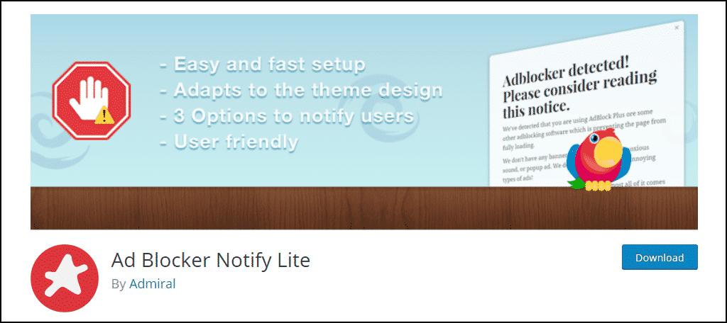 Ad Blocker Notify Lite