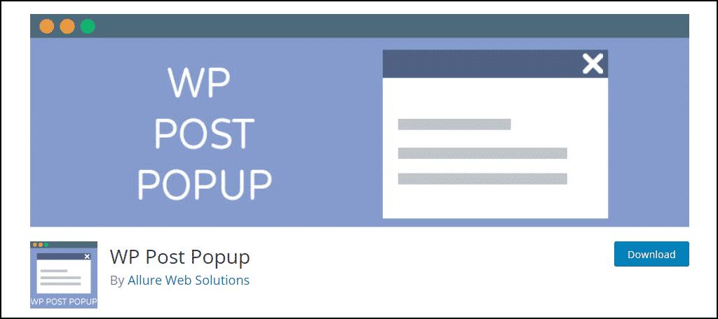 WP Post Popup