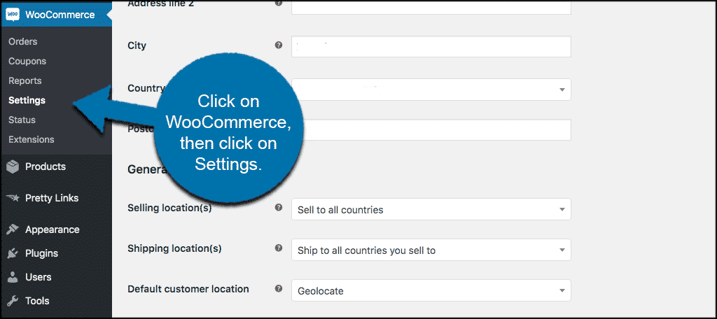Woocommerce wordpress settings tab