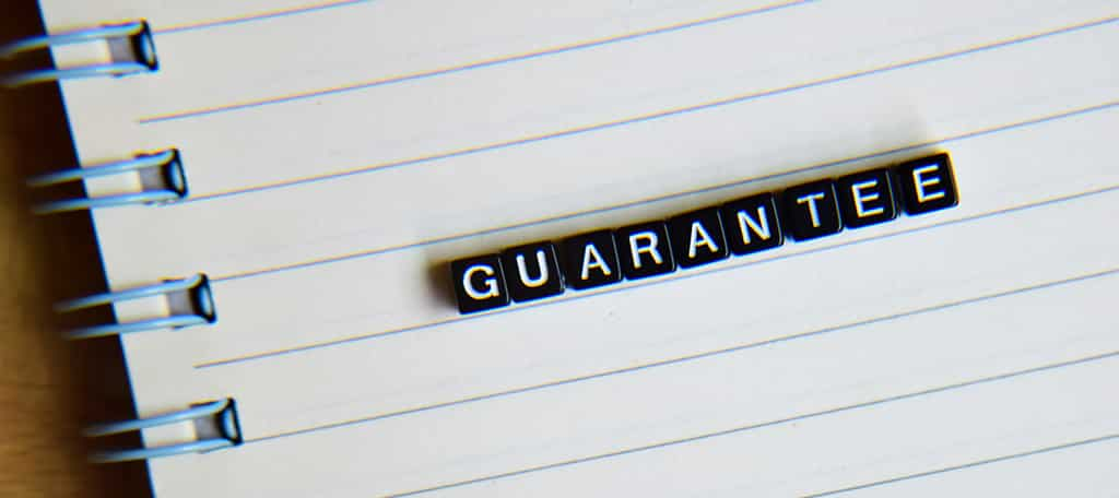 no guarantee