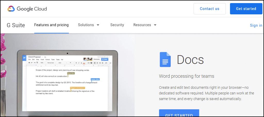 Google Docs has become the de facto standard