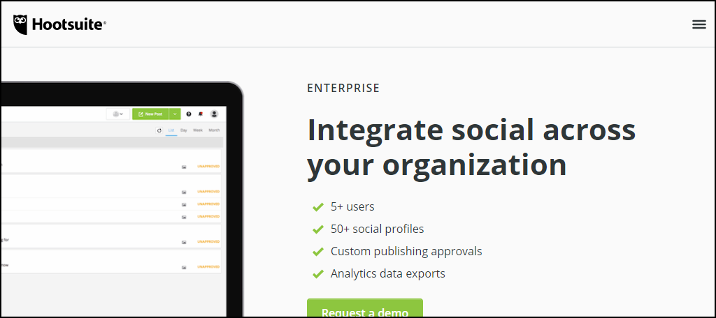 HootSuite provides a very flexible interaction with social media accounts