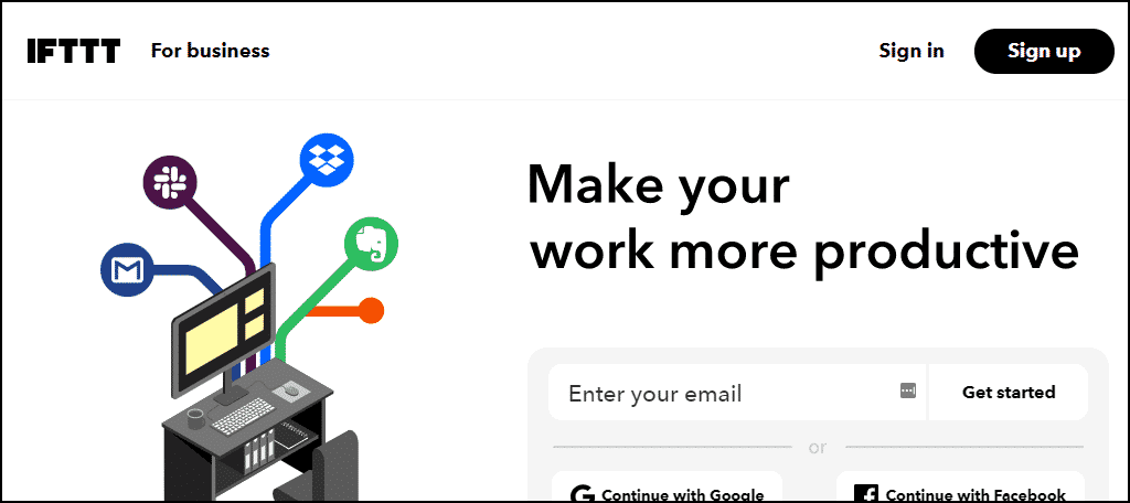 IFTTT creates automation between applications