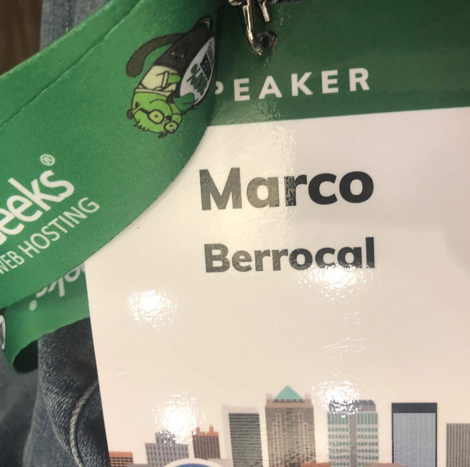 Speaker Marco Berrocal