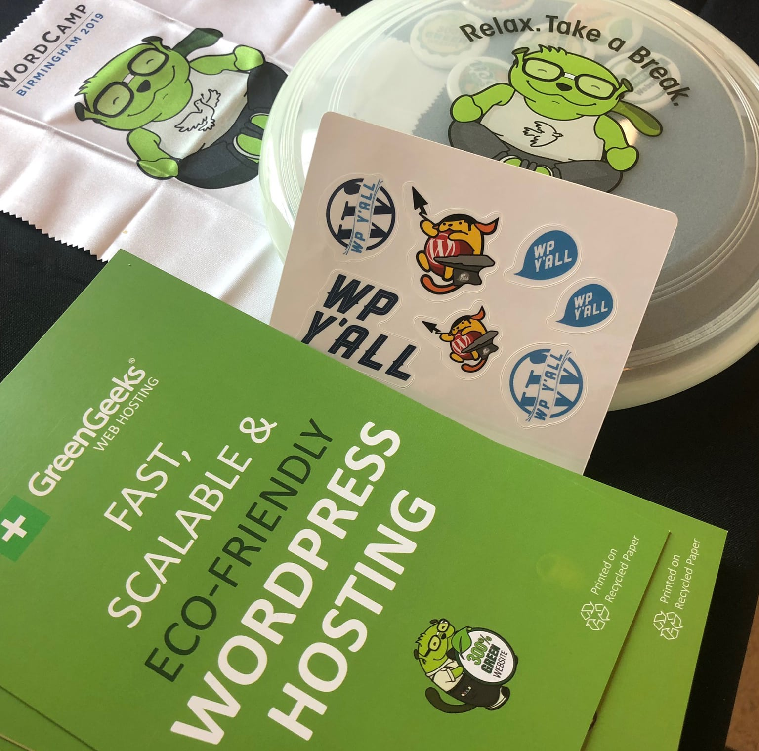 WordCamp Birmingham Swag
