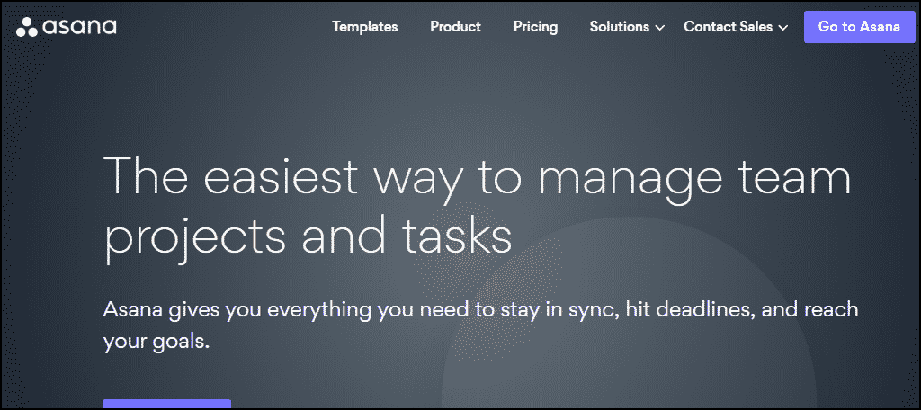 Asana is a team project and task management application