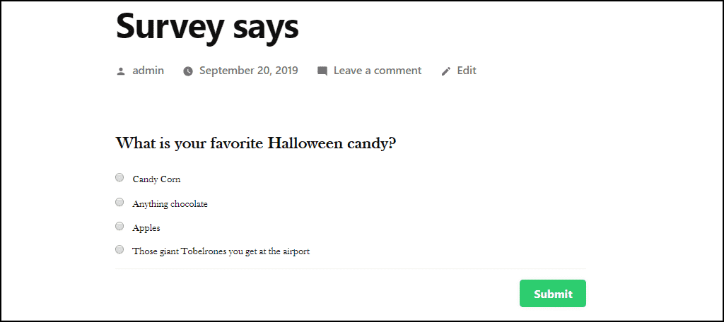 candy survey