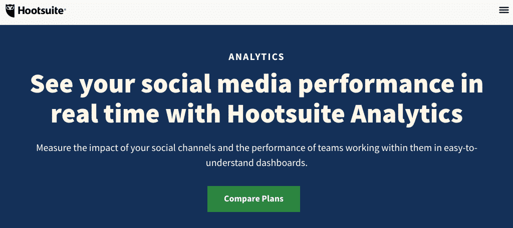 Hootsuite analytics social tracker