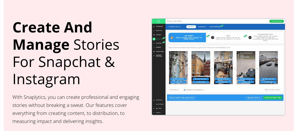 Snaplytics social media tool