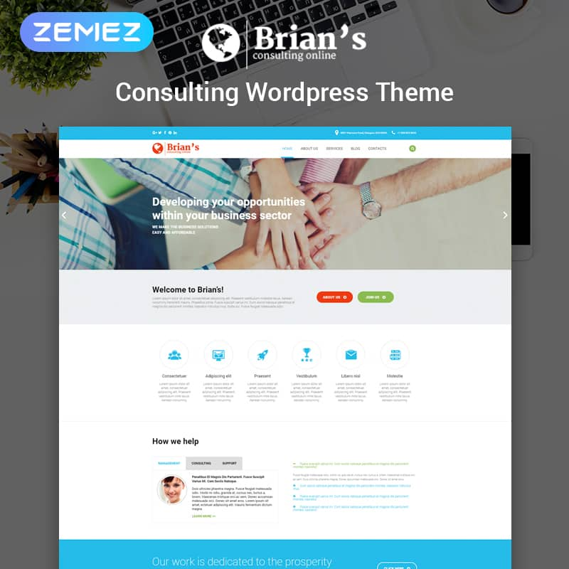 Brian's Consulting WordPress Theme