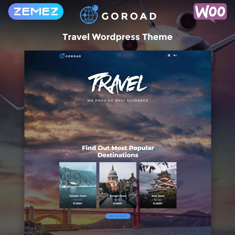 Goroad Travel Agency Theme