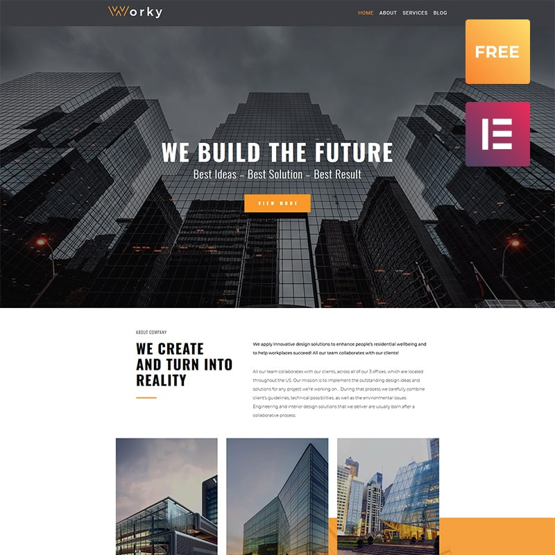 Worky Lite Architectural WordPress Theme