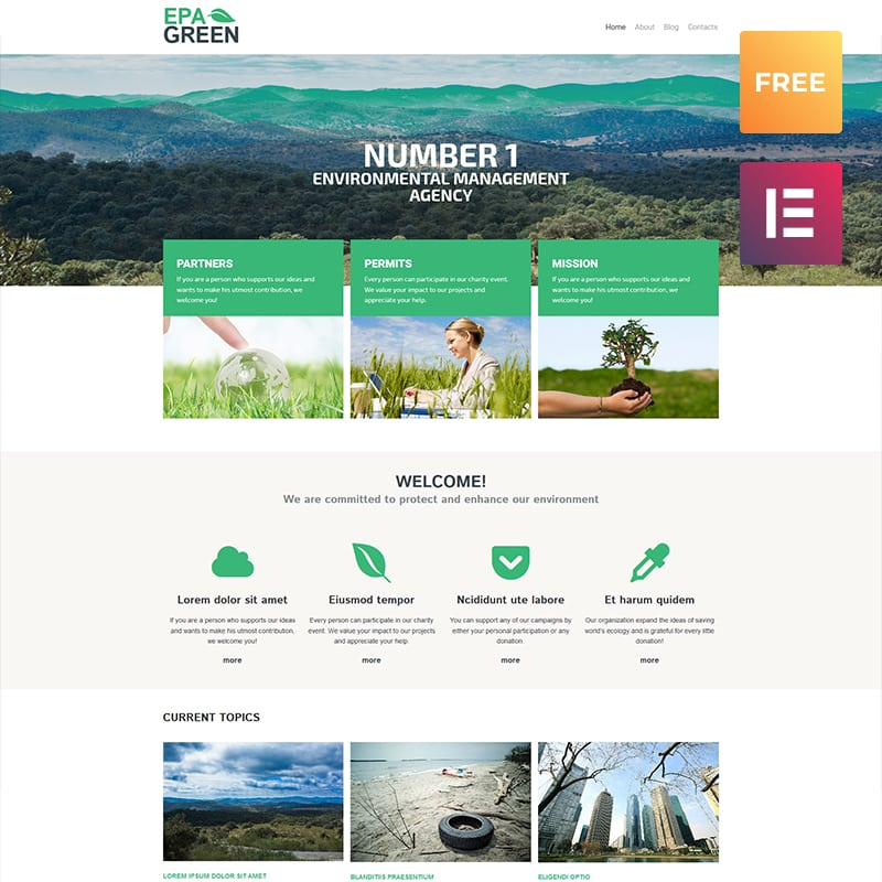 EPA Green Lite WordPress Theme