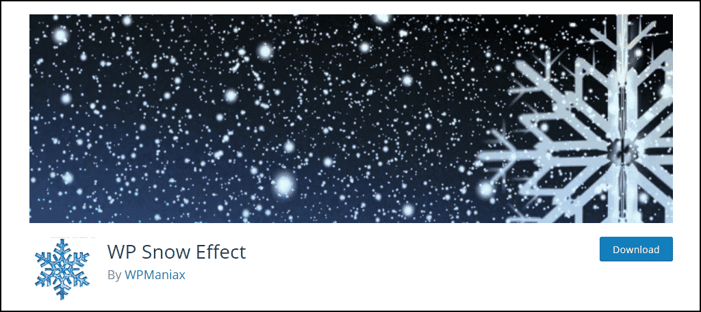 WP-Snow-Effect