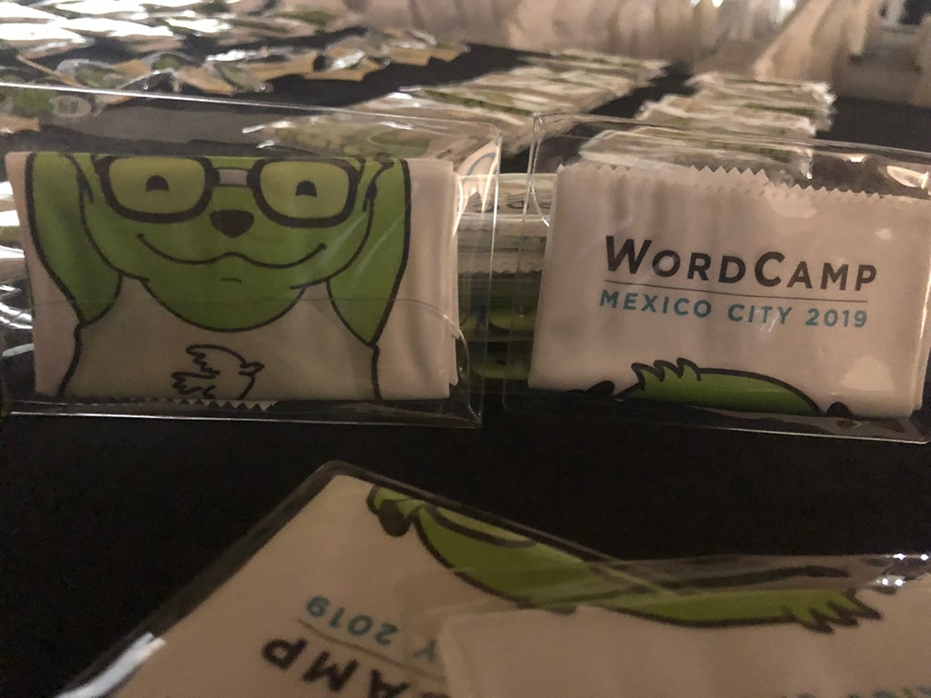 WordCamp Mexico CIty 2019 Swag