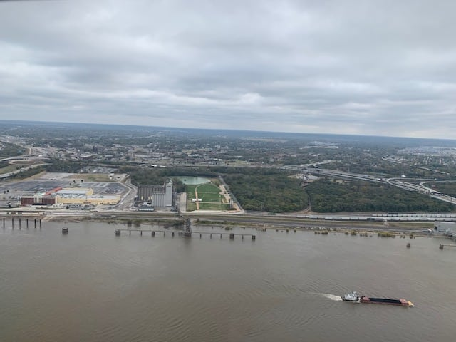Mississipi River View from the Gateway Arch