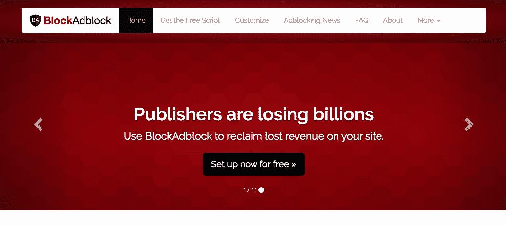 Block ad block tool