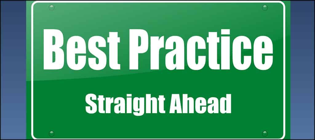 Best Practices Ahead