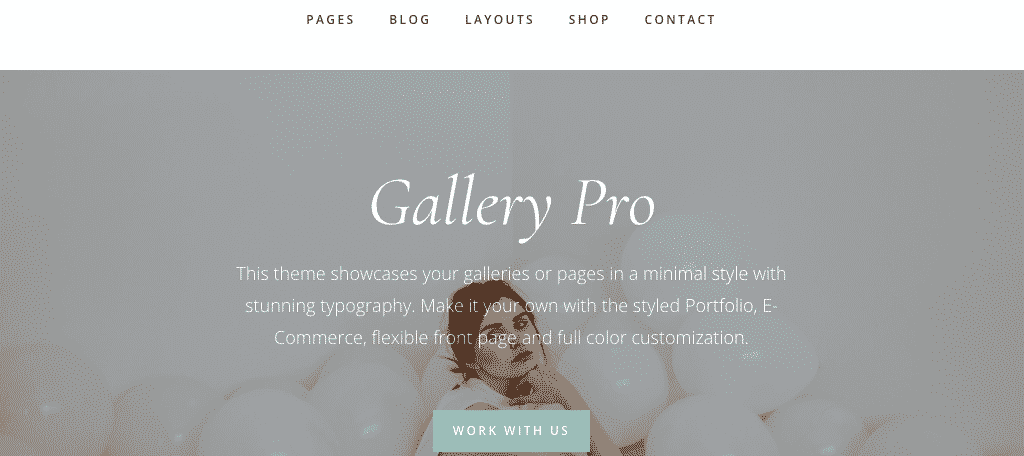 Gallery Pro WordPress Photography theme