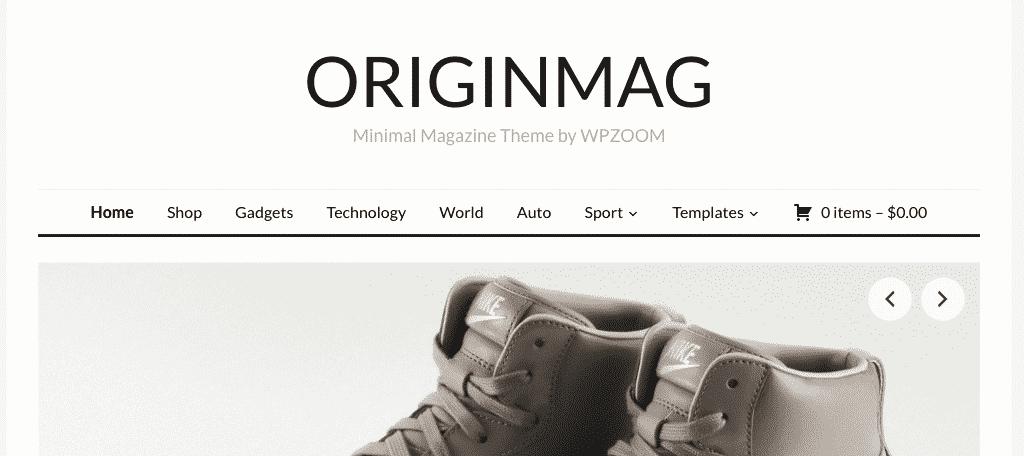 OriginMag theme