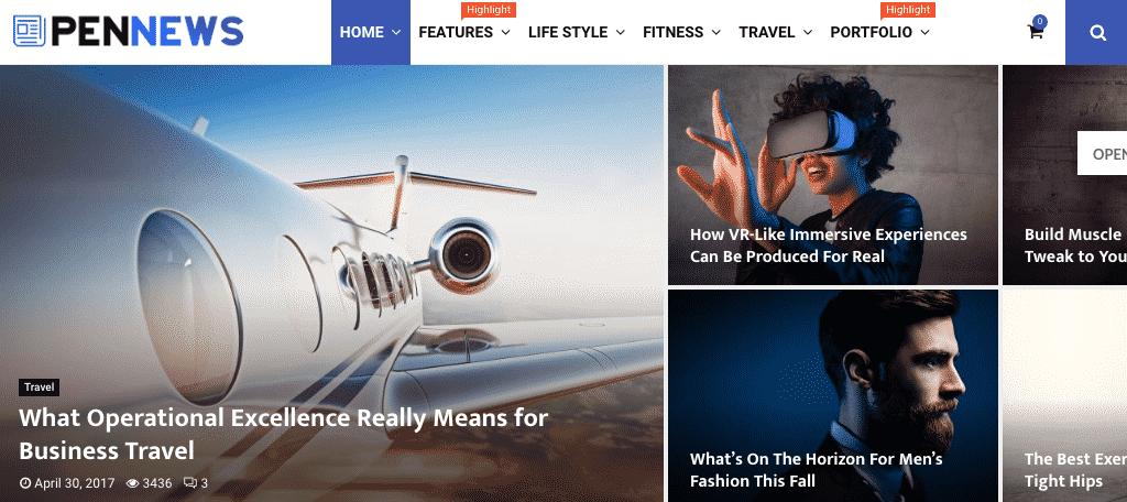 PenNews magazine themes for wordpress