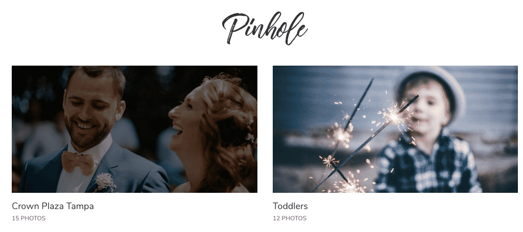 Pinhole WordPress photo theme