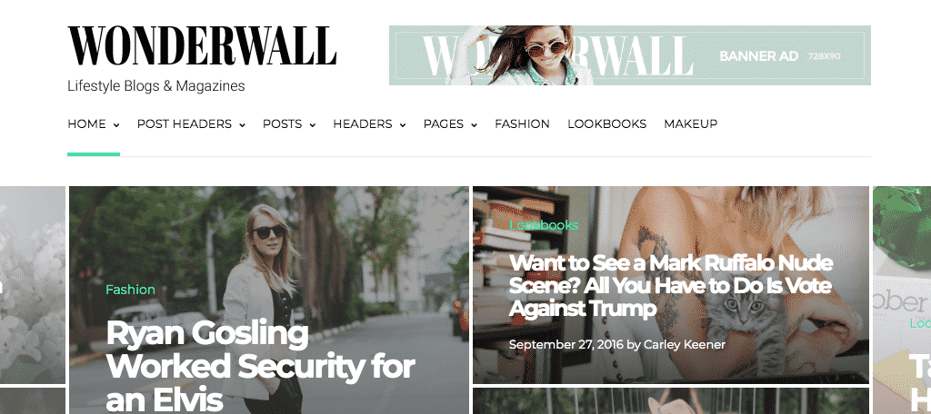 Wonderwall magazine themes for wordpress