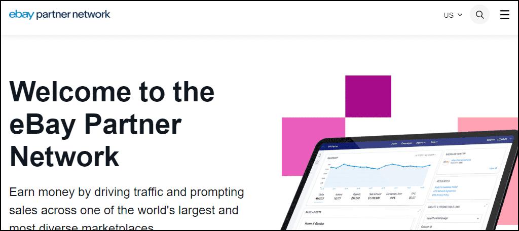 eBay Partner Network website