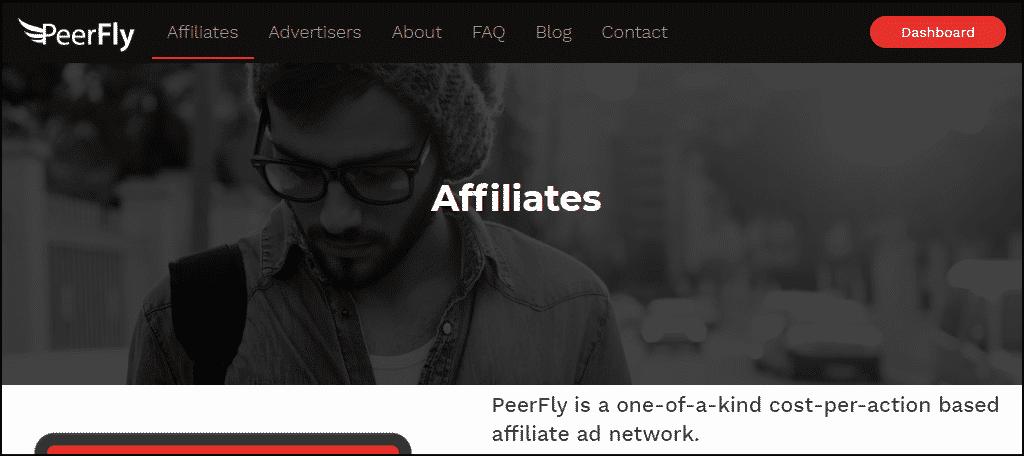 Peerfly website