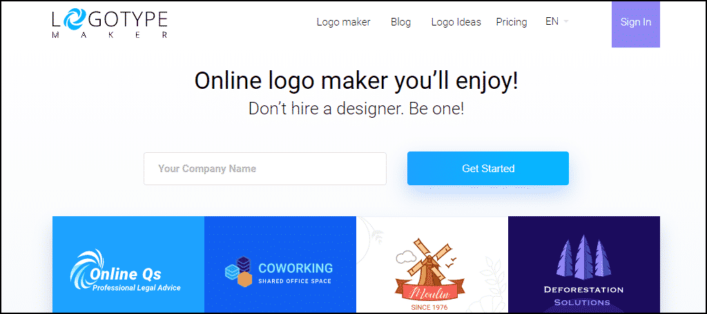 Logotype website