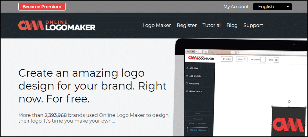 Online Logomaker website