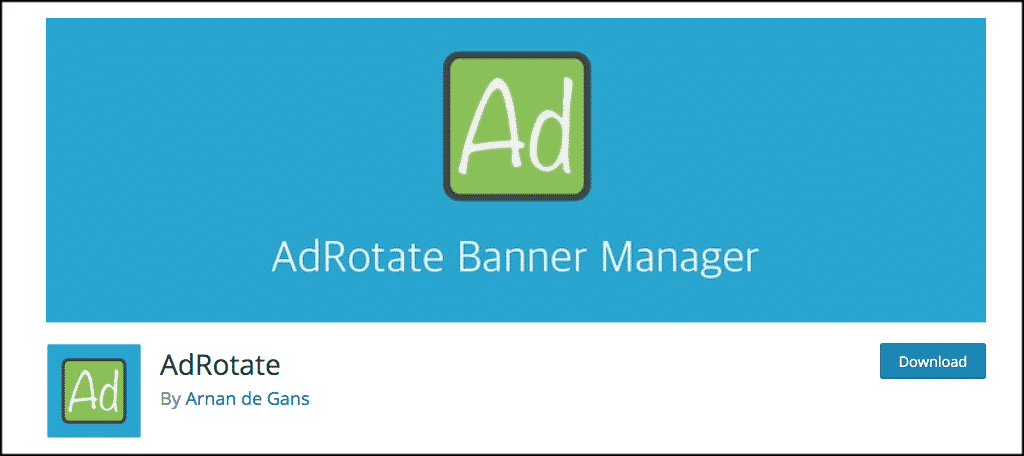 AdRotate plugin for ad management