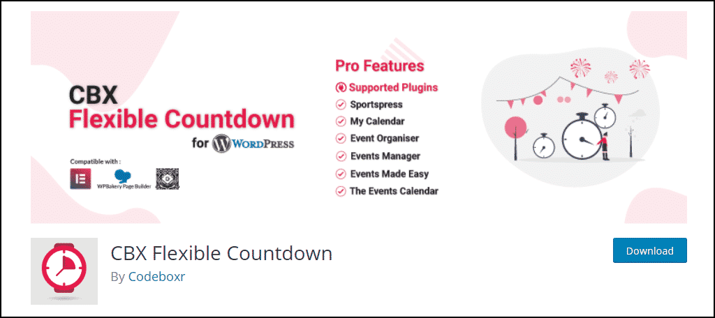 CBX Flexible Countdown WordPress plugin