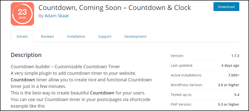 Countdown Builder WordPress plugin