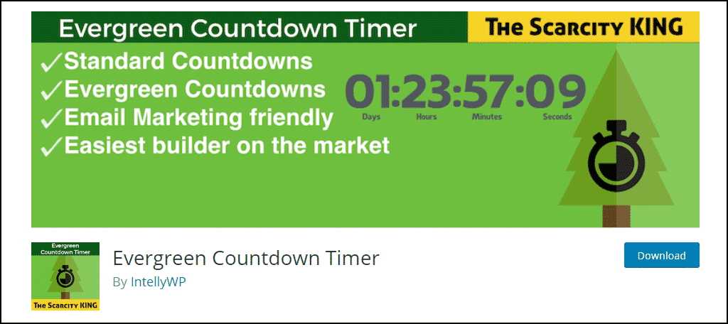 Evergreen Countdown Timer WordPress plugin