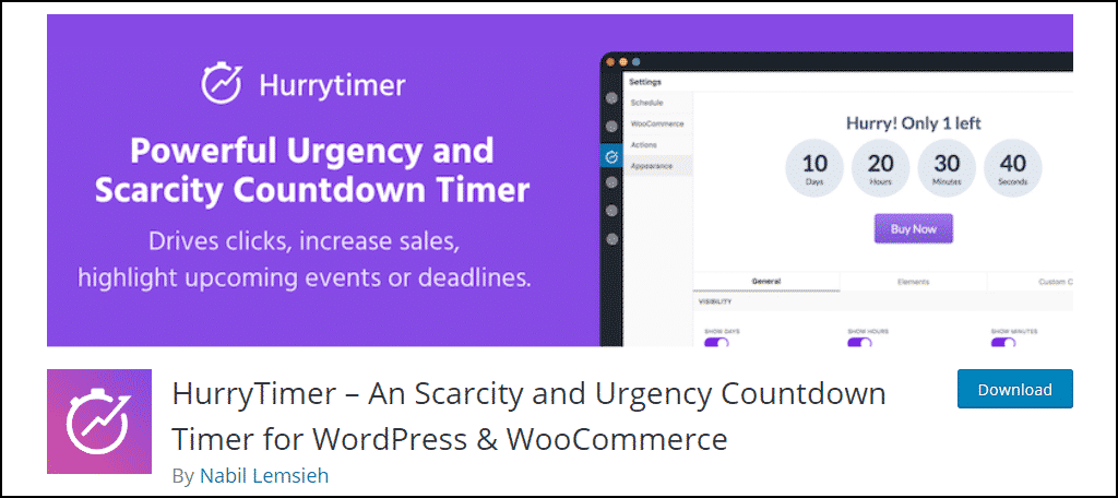 HurryTimer WordPress plugin