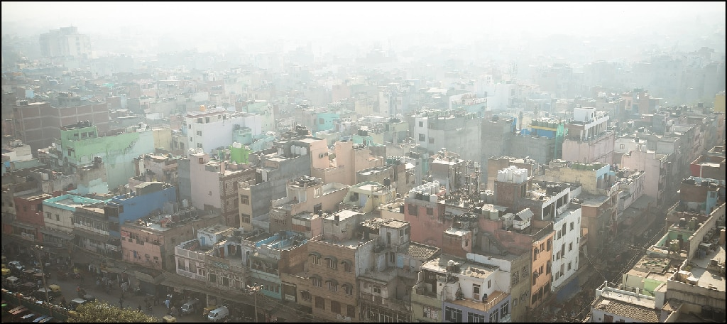 Smog in New Delhi Before Lockdowns