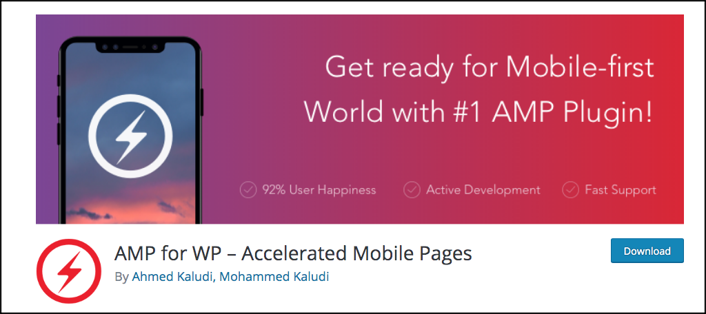 AMP for WP for Google AMP project