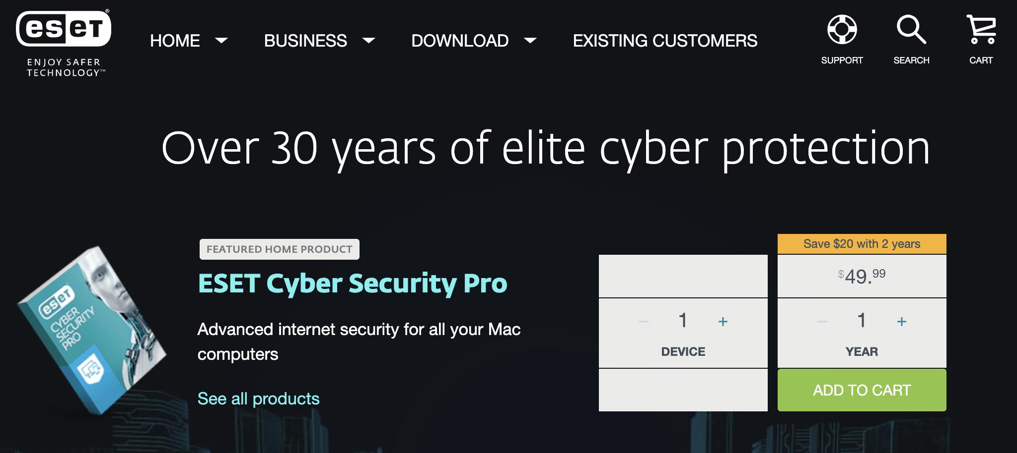 ESET best antivirus protection