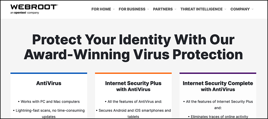 Webroot secure antivirus