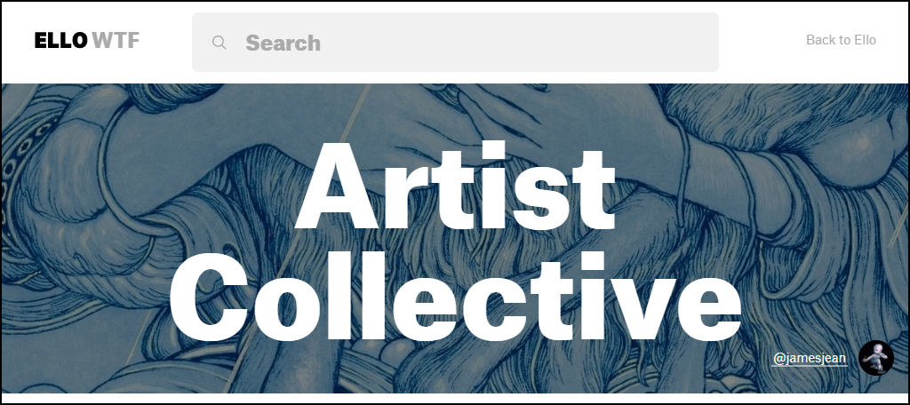 Ello artist collective page