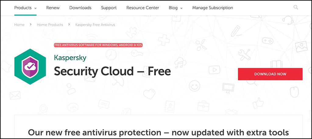 Kaspersky Security Cloud Free antivirus