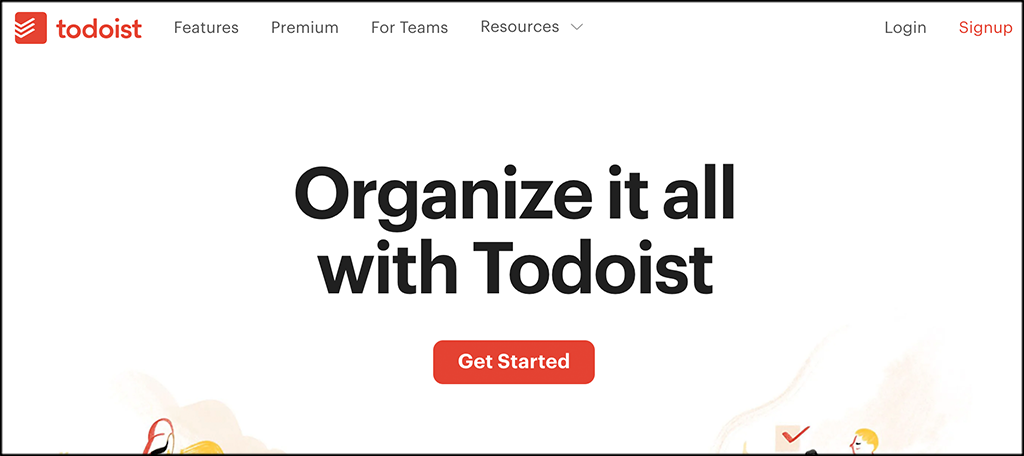 Todoist to-do list app